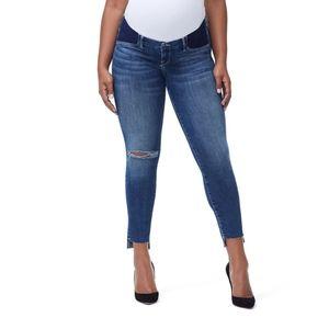 Ripped Maternity Jeans Raw Hem